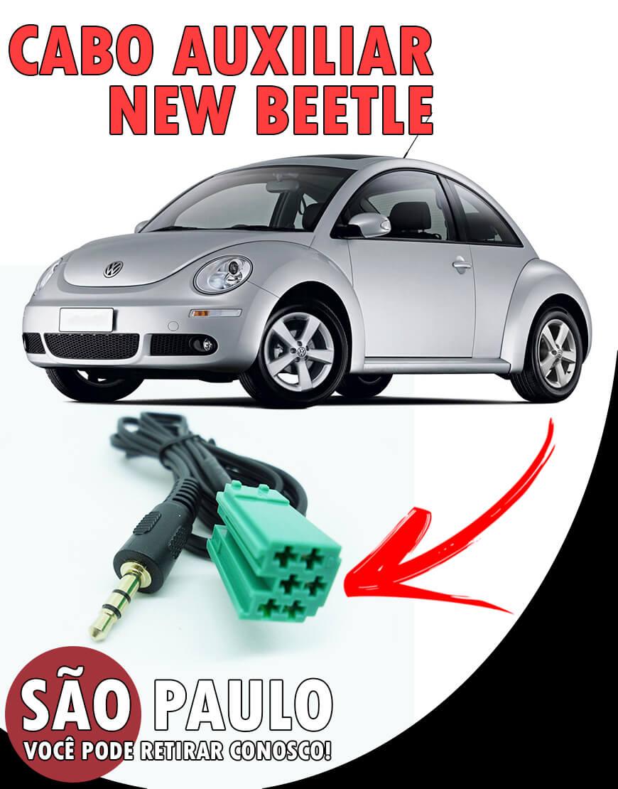Cabo Auxiliar New Beetle e bluetooth Com Chave De Remoção