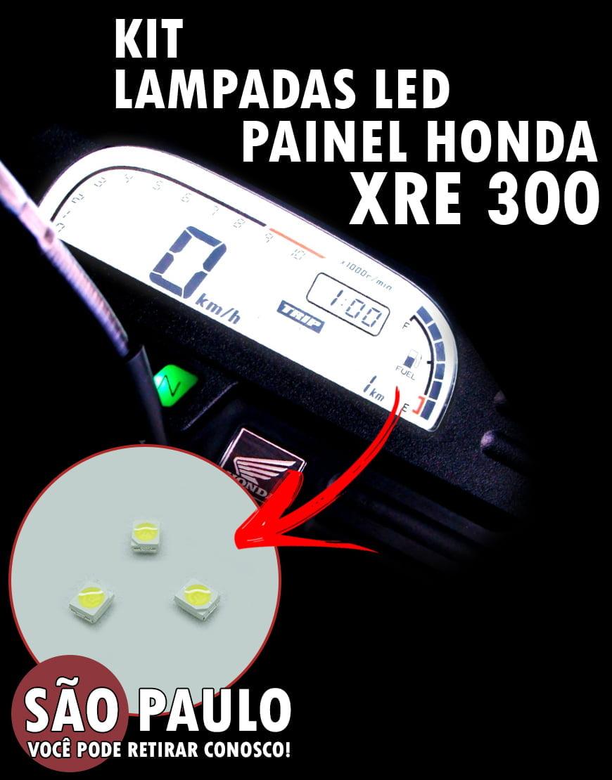 KIT Led Painel Xre 300 + LED Luz Alta