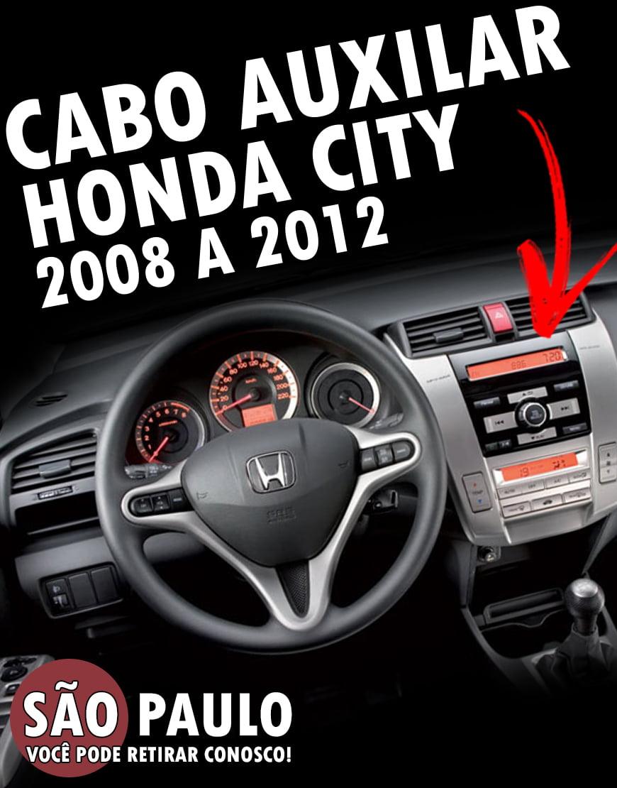 Cabo AUX Honda City 2008 ao 2012