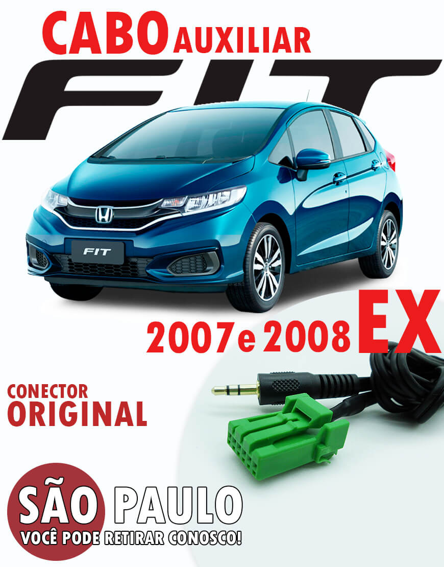 Cabo Auxiliar Honda Fit Ex 2007 E 2008 Conector Original