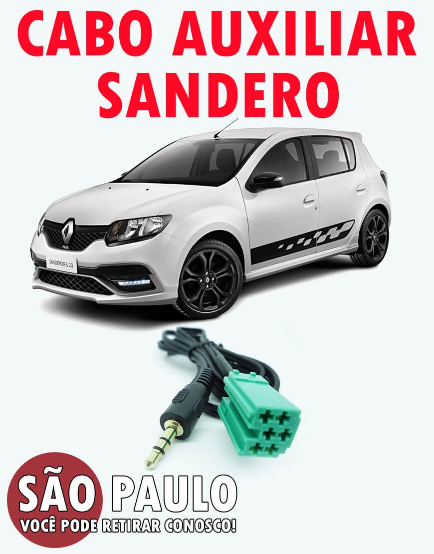 Cabo Auxiliar Renault Sandero com Chave De Remoção