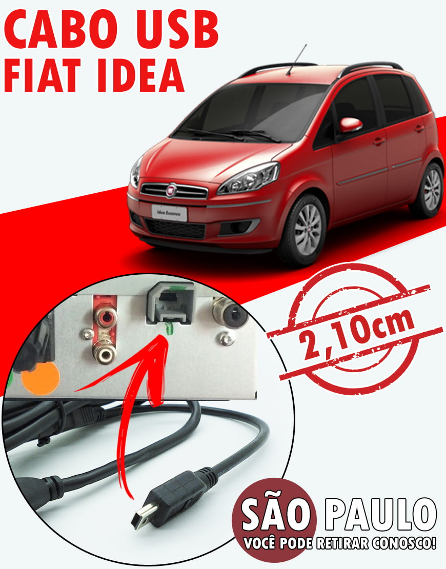 Cabo Fiat Idea Usb X Mini Usb