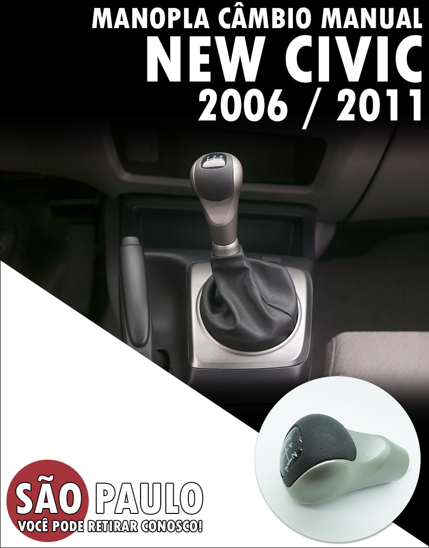 Manopla Cambio Manual New Civic 2006 Ao 2011