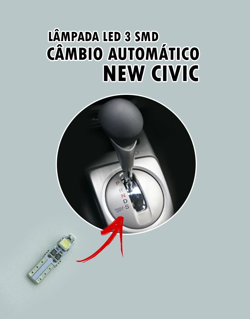 Lampada Câmbio New Civic Led T5 3 Smd