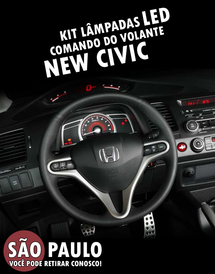 Kit Lampadas Led Comando Do Volante New Civic