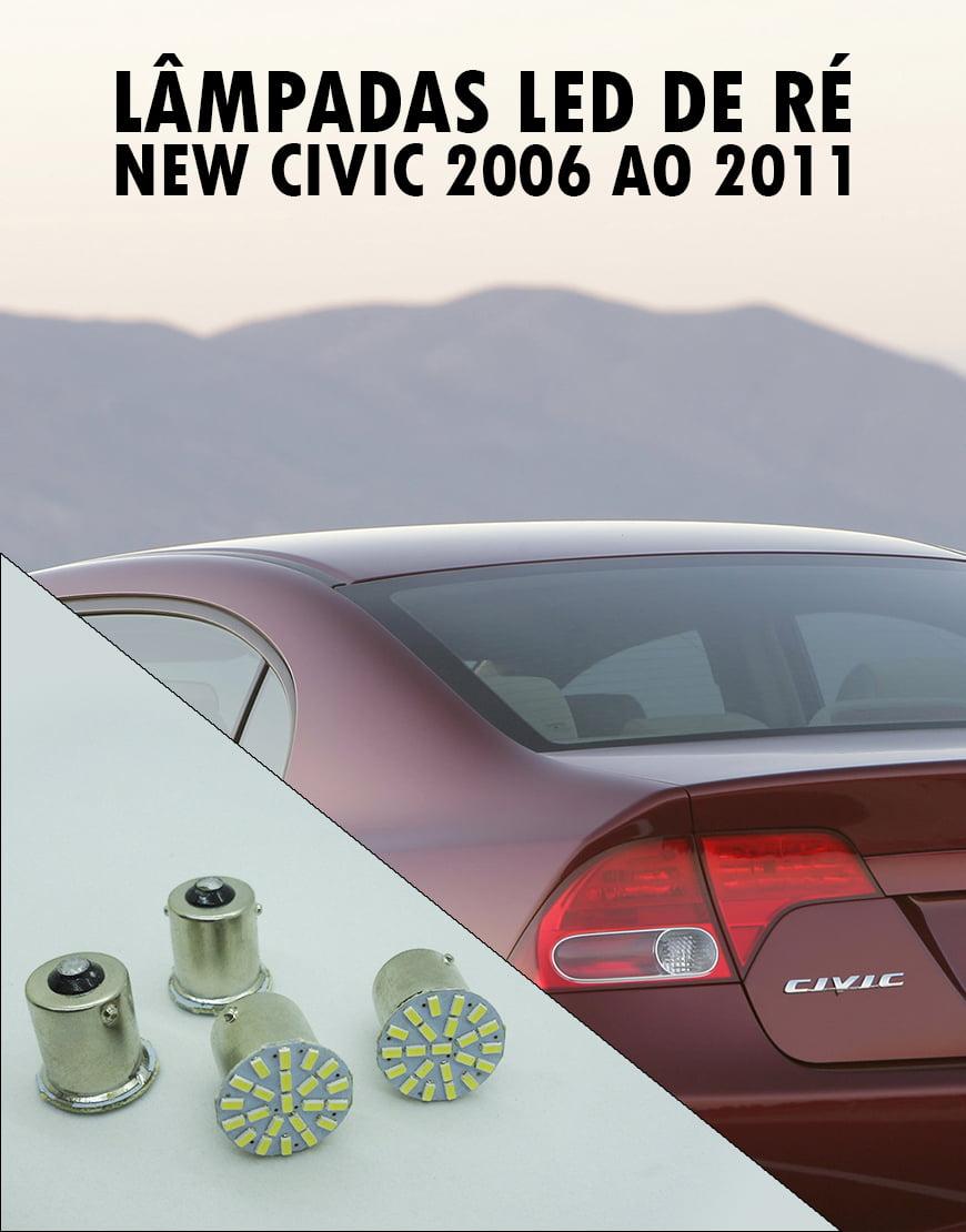 Lâmpadas LED de Re New Civic 2006 ao 2011