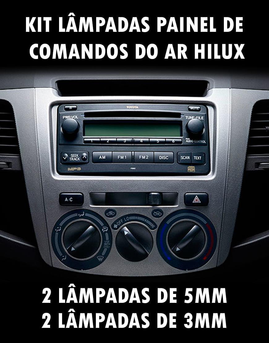 Kit Lampadas Hilux 5mm 12v E 3mm 12v Painel Ar e Pisca