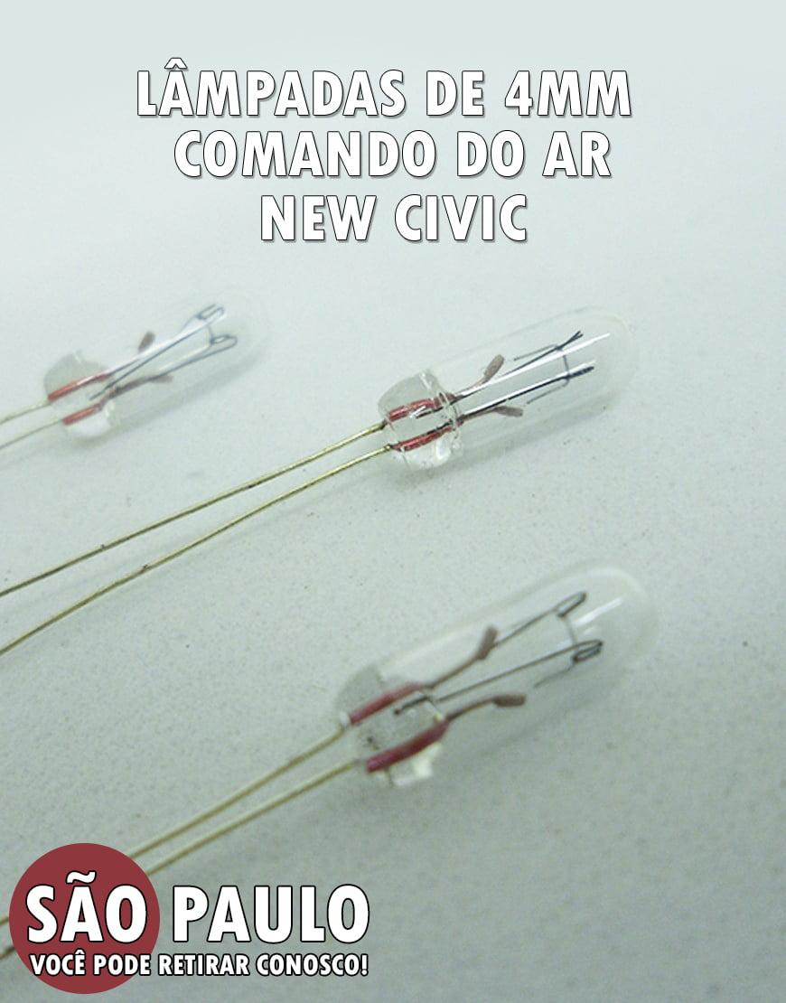 Lâmpada De 4mm Comando do AR New Civic entre outros