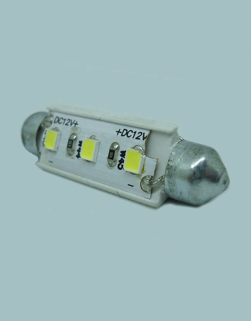 Lampada Torpedo 6 Leds 42mm Interno