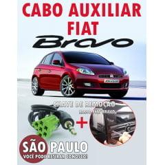 Cabo Auxiliar Fiat Bravo P2 Estereo de 3 Metros Com Chave De Remoção
