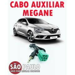 Cabo Auxiliar Renault Megane e Bluetooth com Chave de Remoção