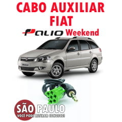 Cabo Auxiliar e Bluetooth Fiat Palio Weekend