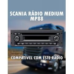 Cabo Auxiliar e Bluetooth para Radio Scania