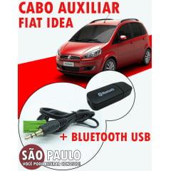 Cabo Auxiliar Idea e Receptor Bluetooth