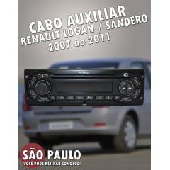 Cabo AUX Renault Logan Sandero 2007 2011