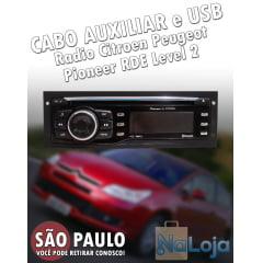 Cabo Aux Usb Radio Citroen Peugeot Pioneer Rde Level 2