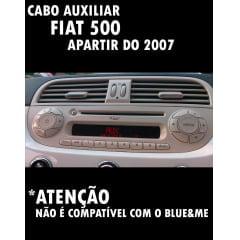 Cabo Auxiliar Fiat 500 Com Chave De Remoção