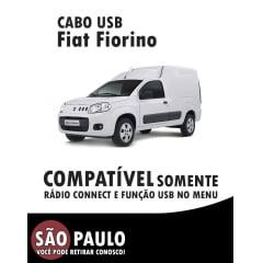Cabo USB Fiat Fiorino Com Chave De Remoção
