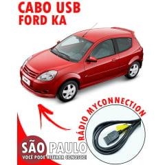 Cabo USB Ford Ka Com Chave De Remoção