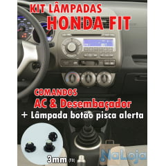 KIT LED COMANDO DO AR HONDA FIT 2003 AO 2008