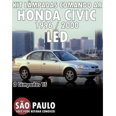 Kit Lampada LED Comando Ar Civic 1996 ao 2000