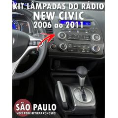Lampadas Painel Radio New Civic 2006 Ao 2011