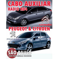 Cabo Auxiliar Para Peugeot E Citroen Rd4 com Chave De Remoção