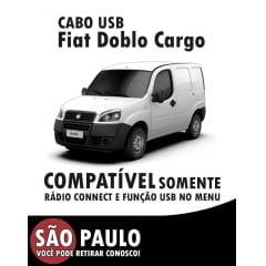 Cabo Usb Fiat Doblo Cargo Com Chave De Remoção