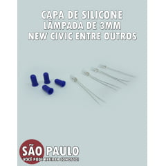 Capa de Silicone Para Lâmpada de 3mm New Civic Fit New Fit