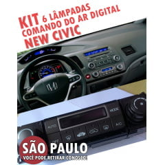 kit 6 lampadas 4mm comando ar digital new civic