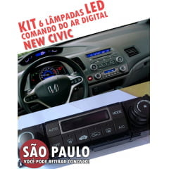 kit 6 lampadas led 4mm comando ar digital new civic