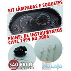 Kit Lâmpadas E Soquetes Painel Civic 2001 Ao 2006