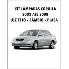 Kit Lâmpadas Led Corolla 2003 ao 2008