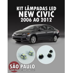 Kit Lampadas Led New Civic 2006 Ao 2011