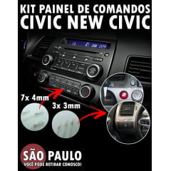 Kit Lâmpadas Painel De Comandos New Civic 3x 3mm e 7x 4mm