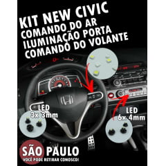 KIT LED NEW CIVIC SI COMANDO DO AR VOLANTE E PORTA 2007 AO 2011