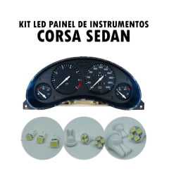 Kit LED painel de Instrumentos Corsa Sedan