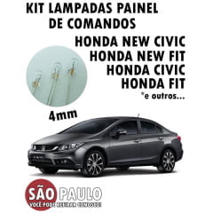 Lampada 4mm Painel Civic New Civic Fit Entre Outros