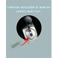 Lampada Câmbio New Civic Pinguinho T5 Azul 12v 1.2w
