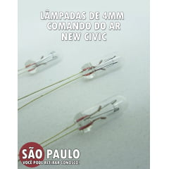 Lâmpada De 4mm Comando do AR New Civic entre outros