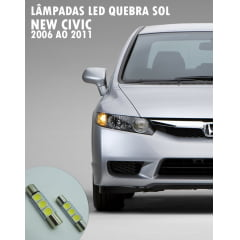 Lâmpada LED Quebra Sol New Civic 2006 ao 2011