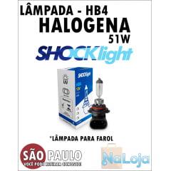 Lampada para Farol Halogena HB4 51w Shocklight