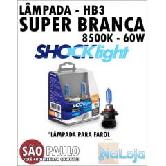 Lampada para Farol Super Branca HB3 60w Shocklight