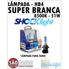 Lampada para Farol Super Branca HB4 51w Shocklight