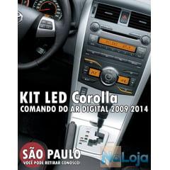 Kit Led Comando Do Ar Auto Corolla 2009 ao 2014