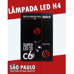 LAMPADA LED H4 6000K 4800LM C6 2D