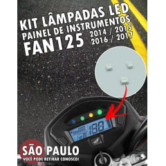 Kit LED Painel Fan 125 2014 ao 2017